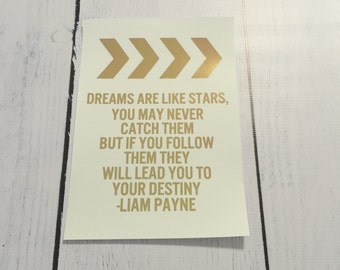 ONE DIRECTION Foil Quote Art - Liam Payne Quote