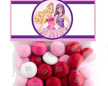 Barbie 5 Inch  Party Favor Topper- Digital Download - Candy Bag Topper - Barbie Party