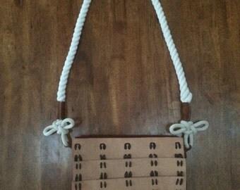 Samurai armor pattern messenger bag.
