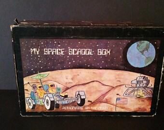 Vintage Cardboard My Space School Box Pencil Box Ginter Box Co 1979