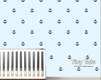 Pattern Wall Decal-Nautical Wall Decal-Anchor Wall Decal-Nursery Wall Decals-Wall Stickers