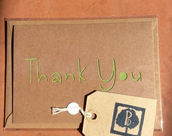 Papercut Thank You card. Packs of 1, 3 or 5