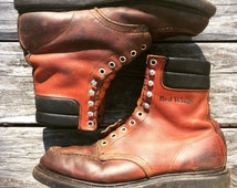 Vintage Red Wing boots Size 8-9 Made IN USA