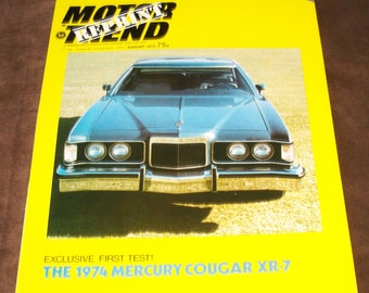 Mercury Cougar XR-7 Dealer Advertising Brochure  Motor Trend 1974