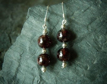 Jewelry for Bema Glass and Stone Dangle Earrings