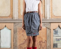 Recycled denim pencil skirt / skirt pencil in recycled cowboy - #001