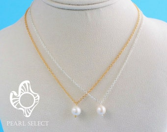 freshwater pearl necklace,bridesmaid gift,bridesmaid necklace,pearl necklace,single pearl necklace