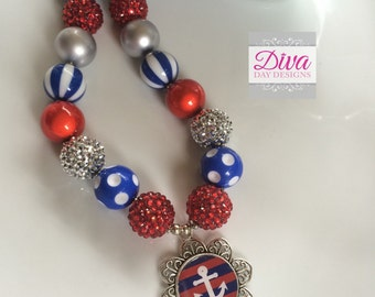 Childrens chunky necklace nautical