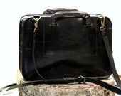 """Handmade Leather Zipper Briefcase - Zipper Binder - With retractable """"pop-up"""" Handles - carbine removable belt- made for Macbook 13"""""""