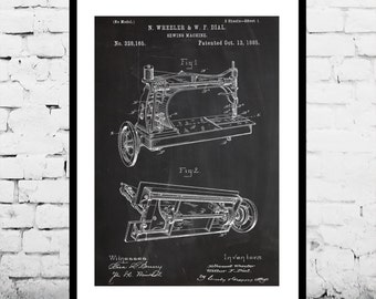 Sewing Machine Poster, Sewing Machine Print, Sewing Machine Patent, Sewing Machine Blueprint, Sewing Machine Art ,Sewing Machine Decor