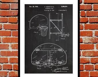 Basketball Hoop Print, Basketball Hoop Poster, Basketball Hoop Patent, Basketball Hoop Decor, Basketball Hoop Art, Vintage Basketball Goal