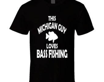 Michigan Bass Fishing T Shirt