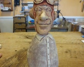 clay sculpture aviator