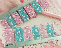 Hello Kitty one set of Full Nail polish strips wraps stickers Salon ~QJ-1087