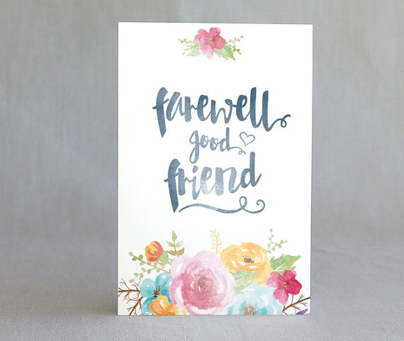 It is an image of Bewitching Farewell Card Printable
