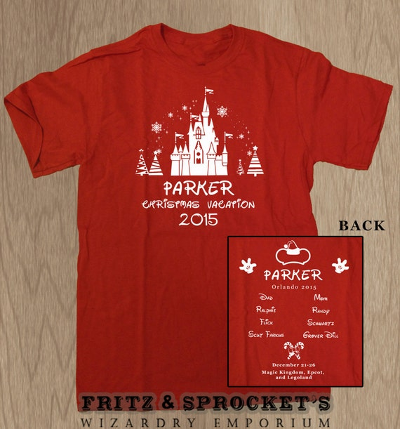 15 Disney Christmas Vacation Custom T Shirts By