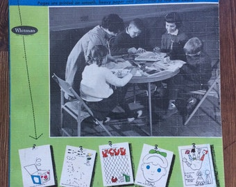 1961 Whitman Activity Fun Book- Mazes, Coloring, Dot-Dot, Things to Make 128 pages