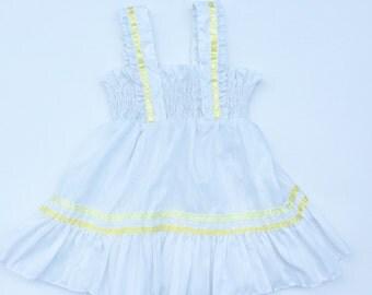 Vintage baby white striped smocked sundress