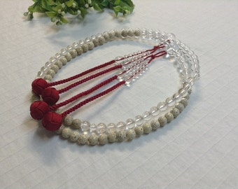 Juzu counter beads,bodhi seeds+clear quartz stone style,Japanese Buddhist ceremony craft,free shipping for international order
