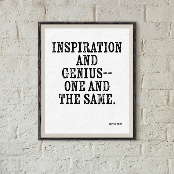 Items Similar To Victor Hugo Quote