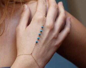Blue stone slave bracelet