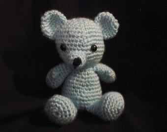 Small blue bear plushie