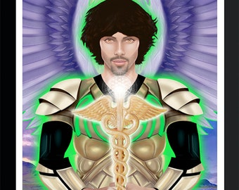 Archangel Raphael Print by Jason Mccreadie 2014