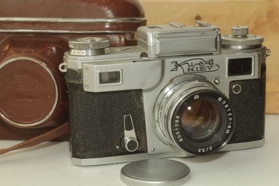 USSR KIEV-4(Type 4) Vintage Rangefinder Camera, Jupiter 8M 2/53 & Case Soviet ж