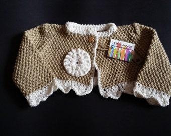 JACKET baby flower beige