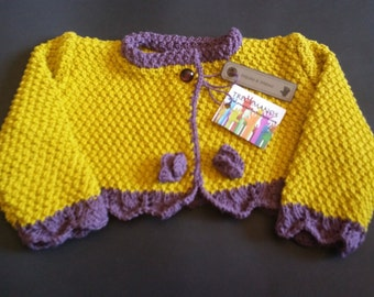 JACKET baby lima-morado first position: 0-3 months 100% cotton