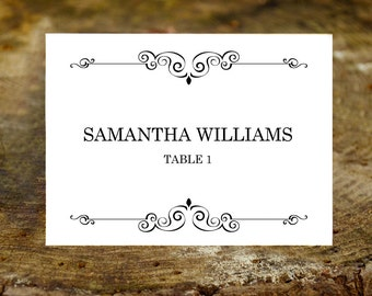 Place Card Template ~ Editable Download ~ DIY Printable ~ Instant Download