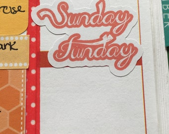 5 Sunday Funday Planner Stickers!