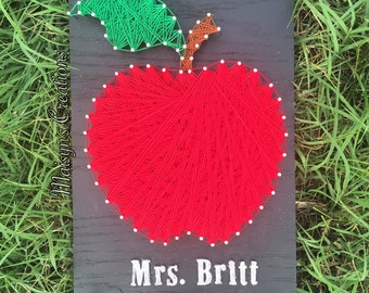 Teacher's Apple String Art