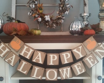 Halloween Decoration, Happy Halloween Sign, Happy Halloween Garland, Halloween Decor, Fall Decoration, Decoration, Fall Decor, Fall Banner
