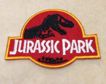 Jurassic Park Iron On Embroidery Patch
