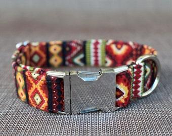 Southwest Collar, Dog Collar, Male Dog Collar, Pet Collar, Tribal Dog Collar, Large Dog Collar, Small Dog Collar, Female Dog Collar