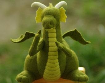 Waldorf Dragon // Waldorf Michaelmas Dragon // Dragon plush toy // Fairy tale creature