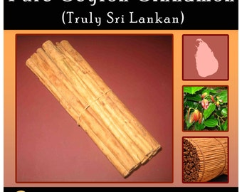 Pure Ceylon Cinnamon, Freshly Packed,Grade ALBA, Free Shipping Worldwide