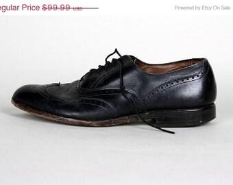 ON SALE Vintage Allen Edmonds Chester Leather Wingtip Oxford Shoes 10 D