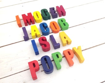 Personalised Name Crayons | Personalised Gift | Alphabet Crayons | Letter Crayons | Novelty Crayons | Educational Toy | Children's Gifts