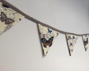 Bunting, Butterfly Bunting, Vintage Style Bunting