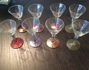 Vintage sherry cordial glasses