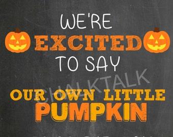 Halloween Pregnancy Announcement Chalkboard - Fall Pregnancy Chalkboard - Halloween - Photo Prop - October - November