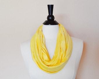 Infinity scarf - scarves - women's scarf - women's accessory, fashion - yellow infinity scarf - jersey scarf - fall infinity scarf
