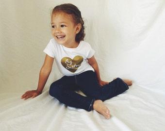 Modern Big Sister Shirt/Classy Big Sister Shirt/Pregnancy Announcement/Toddler Shirts/Big Sister Shirts/Big Sister/Toddler Tees