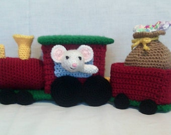 Crochet Christmas Sugar Mouse Train