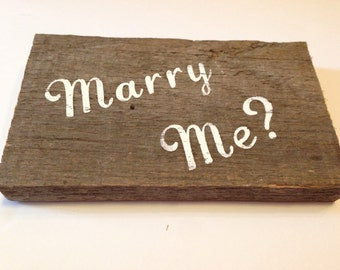 Words on Wood: Marry Me?