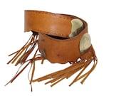 Vintage Concho Fringe Leather Vintage Belt