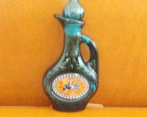 vintage avon decanter perfume bottle new york charisma foaming bath oil topaz bottle