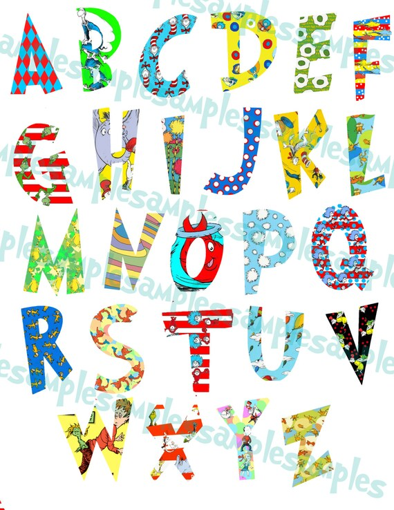 Insane image for dr seuss letters printable
